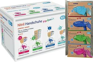 Nitril-Handschuhe in Farbmix-Packungseinheit